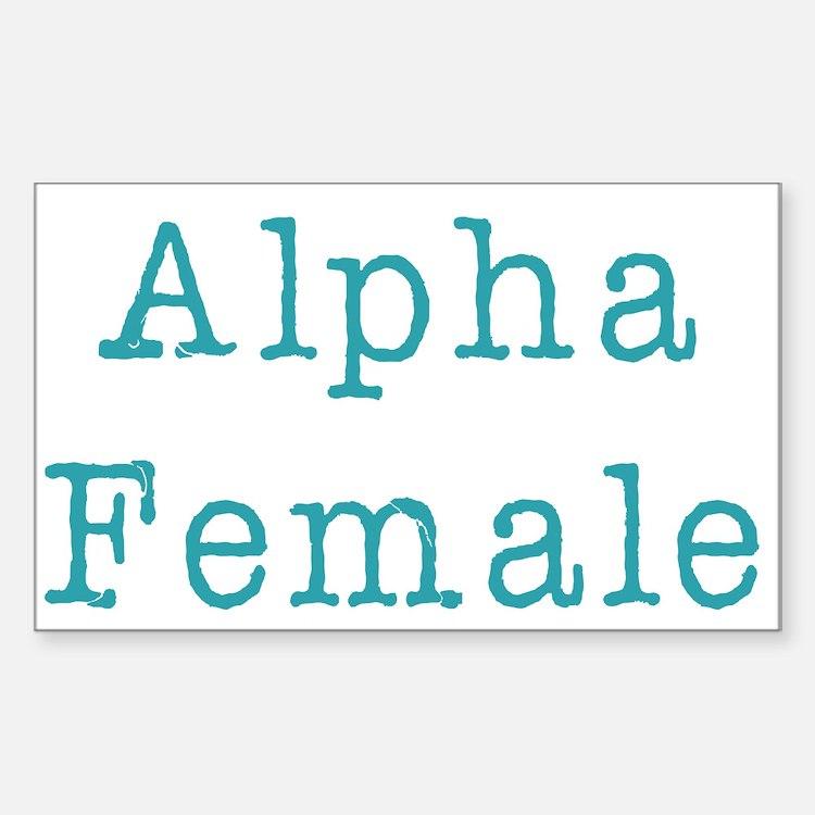 Alpha Female Rectangle Decal