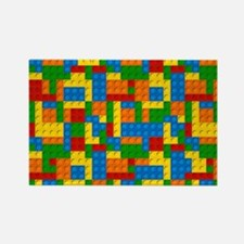 Cute Red yellow green Rectangle Magnet