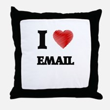 I love EMAIL Throw Pillow