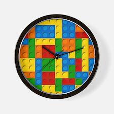 plastic blocks Wall Clock