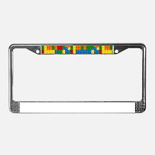 plastic blocks License Plate Frame
