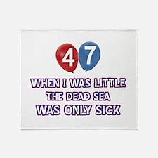 47 year old dead sea designs Throw Blanket