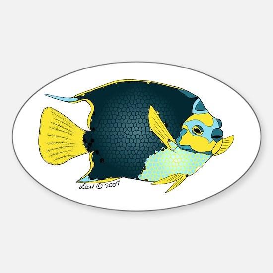 angelfish Oval Decal