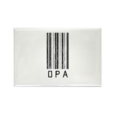 Opa Barcode Rectangle Magnet (10 pack)