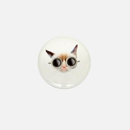 Coffee Cat Mini Button