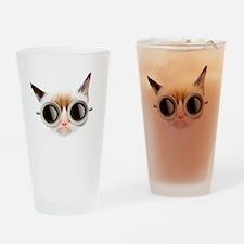 Coffee Cat Drinking Glass