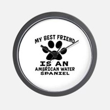 American Water Spaniel Is My Best Frien Wall Clock