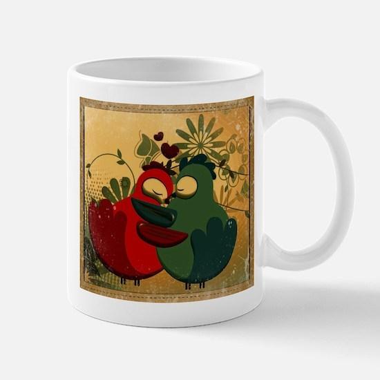 Vintage love birds Mugs