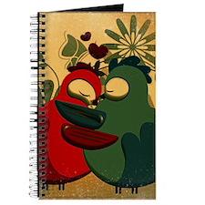 Vintage Love Birds Journal