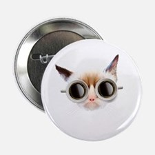 """Coffee Cat 2.25"""" Button"""