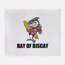 Bay of Biscay Throw Blanket