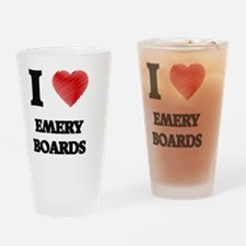 I love EMERY BOARDS Drinking Glass