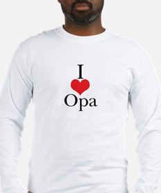 I Love (Heart) Opa Long Sleeve T-Shirt
