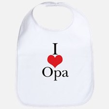 I Love (Heart) Opa Bib