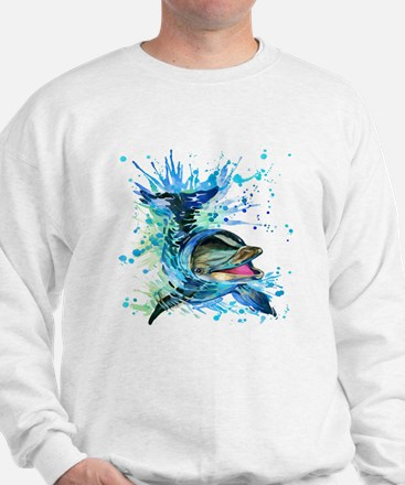 Watercolor Dolphin Jumper