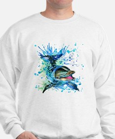 Watercolor Dolphin Sweatshirt