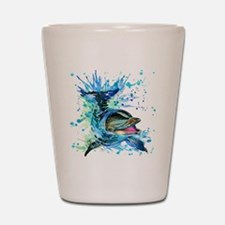 Watercolor Dolphin Shot Glass
