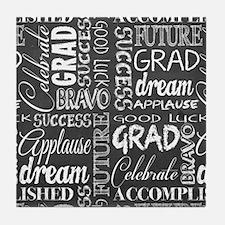 Graduation On The Chalkboard Tile Coaster