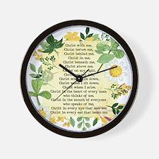 St. Patrick's Breastplate Wall Clock