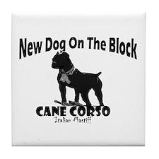 Cane Corso New Dog Tile Coaster