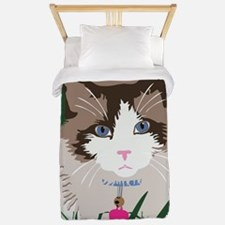 Cute Blue eyed cat Twin Duvet
