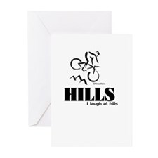 HILLS I laugh at hills Greeting Cards (Pk of 20)