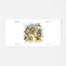 Dinosaur Collage Aluminum License Plate
