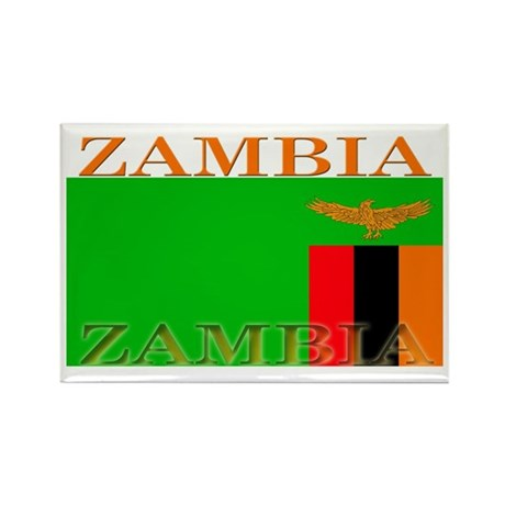 Zambia Zambian Flag Rectangle Magnet