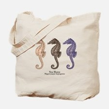 Sea Horse Vintage Art Tote Bag