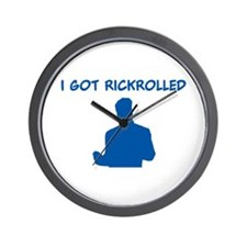 Rickrolled Wall Clock