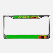 Zambia Zambian Flag License Plate Frame