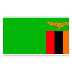 Zambia Zambian Flag Rectangle Decal