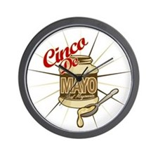 Cinco De Mayo Mayonnaise Wall Clock
