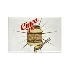 Cinco De Mayo Mayonnaise Rectangle Magnet (100 pac