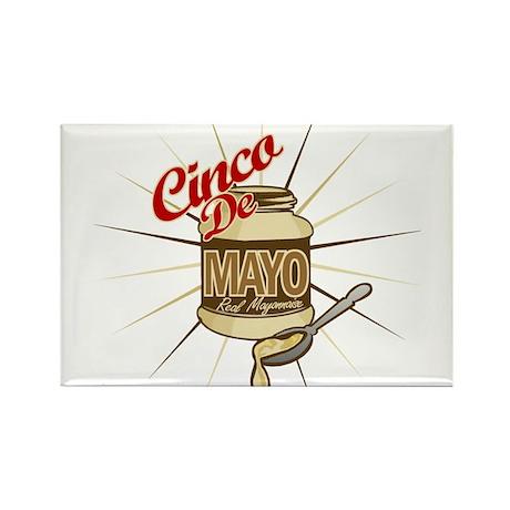 Cinco De Mayo Mayonnaise Rectangle Magnet