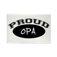 Proud Opa (black) Rectangle Magnet