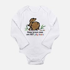 Brown Jelly Beans Long Sleeve Infant Body Suit