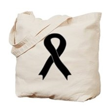 Black Ribbon Tote Bag