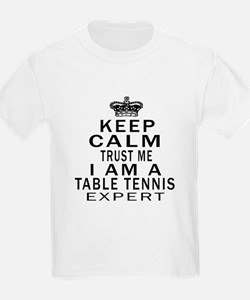 Table Tennis Expert Designs T-Shirt
