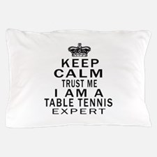 Table Tennis Expert Designs Pillow Case