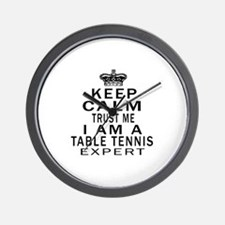 Table Tennis Expert Designs Wall Clock