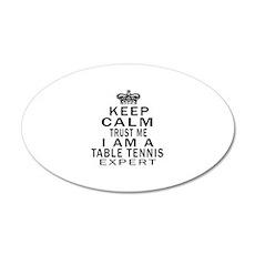 Table Tennis Expert Designs Wall Sticker