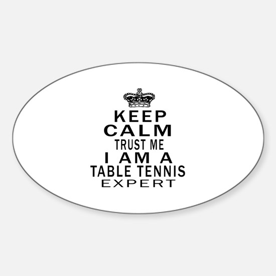 Table Tennis Expert Designs Sticker (Oval)