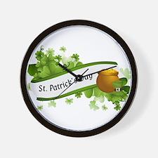 Funny Saint patricks day Wall Clock