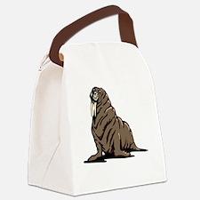 Cute Walrus Canvas Lunch Bag