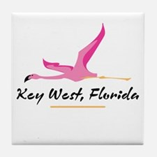 Key West Flamingo - Tile Coaster