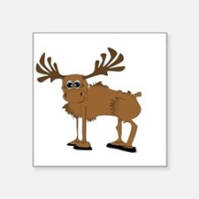 "Cute Moose lovers Square Sticker 3"" x 3"""