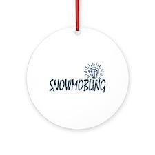 Snowmobile Humor Ornament (Round)