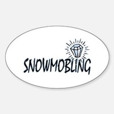 Snowmobile Humor Oval Decal