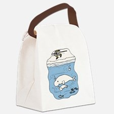 Cute Beluga Canvas Lunch Bag